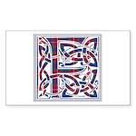 Monogram - Fraser of Lovat Sticker (Rectangle 50 p