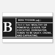 BOSS TYCOON Rectangle Decal