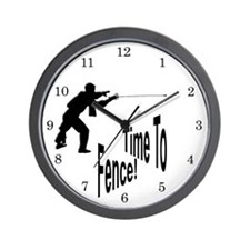 Time To Fence! Wall Clock