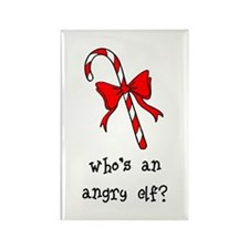 Who's an angry elf? Rectangle Magnet (10 pack)