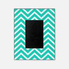 Teal Blue Chevron Pattern Picture Frame