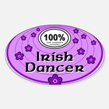 100% Irish Dancer in Purple Decal