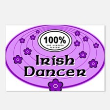 100% Irish Dancer in Purple Postcards (Package of