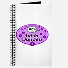 100% Irish Dancer in Purple Journal