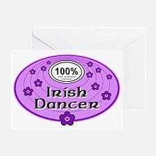 100% Irish Dancer in Purple Greeting Card