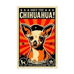 Obey the Chihuahua! Rev Mini Poster Print