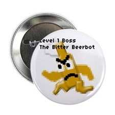 """boss: the bitter beerbot - 2.25"""" Button (10 pack)"""