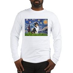 Starry Night / Collie (tri) Long Sleeve T-Shirt