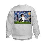 Starry Night / Collie (tri) Kids Sweatshirt