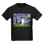 Starry Night / Collie (tri) Kids Dark T-Shirt