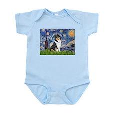 Starry Night / Collie (tri) Infant Bodysuit