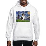 Starry Night / Collie (tri) Hooded Sweatshirt