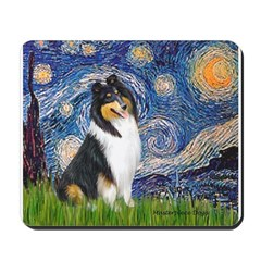 Starry Night / Collie (tri) Mousepad
