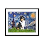Starry Night / Collie (tri) Framed Panel Print