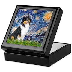 Starry Night / Collie (tri) Keepsake Box