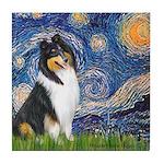 Starry Night / Collie (tri) Tile Coaster