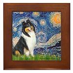 Starry Night / Collie (tri) Framed Tile