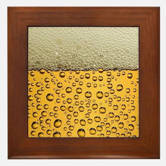 Beer Funny Drinking Party Framed Tile