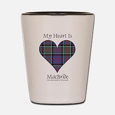 Heart-MacBride.MacDonaldClanranald Shot Glass