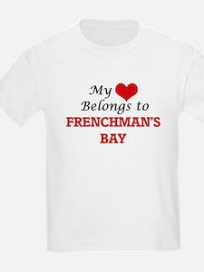 My Heart Belongs to Frenchman'S Bay Virgin T-Shirt