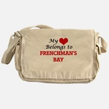 My Heart Belongs to Frenchman'S Bay Messenger Bag