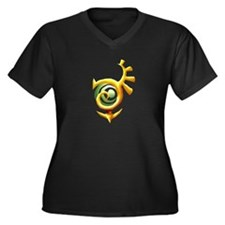 Cute Adventure time Women's Plus Size V-Neck Dark T-Shirt