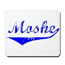Moshe Vintage (Blue) Mousepad