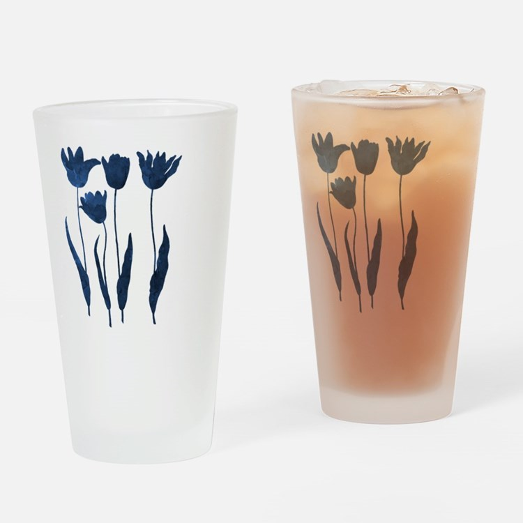 Cute Navy blue colour Drinking Glass