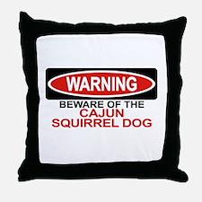 CAJUN SQUIRREL DOG Throw Pillow