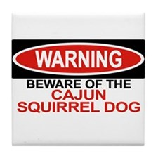 CAJUN SQUIRREL DOG Tile Coaster