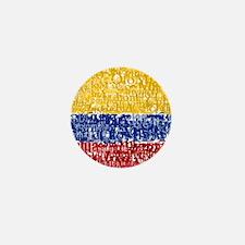 Textual Colombia Mini Button