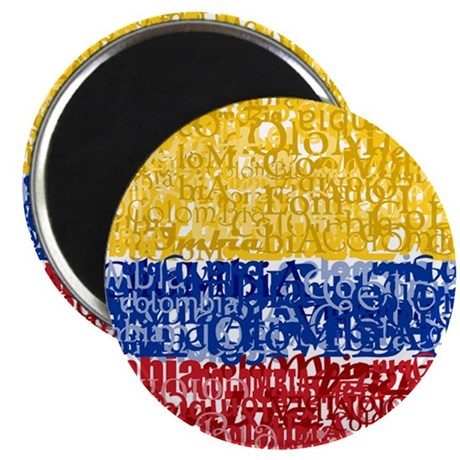 """Textual Colombia 2.25"""" Magnet (100 pack)"""