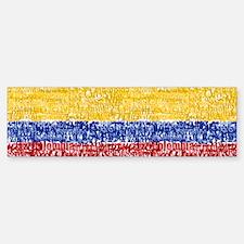 Textual Colombia Bumper Bumper Bumper Sticker