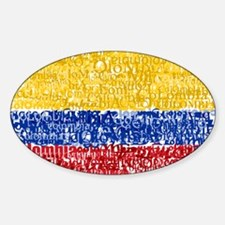 Textual Colombia Oval Decal