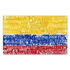 Textual Colombia Rectangle Decal