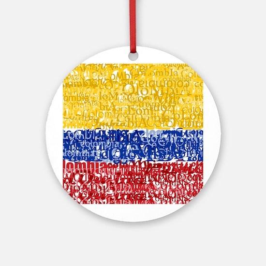 Textual Colombia Ornament (Round)
