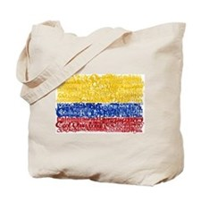 Textual Colombia Tote Bag
