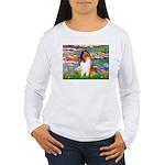 Lilies (2)/Collie (1S) Women's Long Sleeve T-Shirt