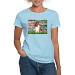Lilies (2)/Collie (1S) Women's Light T-Shirt
