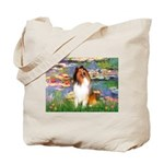 Lilies (2)/Collie (1S) Tote Bag