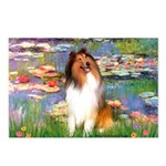 Lilies (2)/Collie (1S) Postcards (Package of 8)