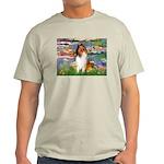 Lilies (2)/Collie (1S) Light T-Shirt