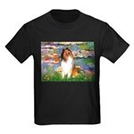 Lilies (2)/Collie (1S) Kids Dark T-Shirt