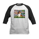Lilies (2)/Collie (1S) Kids Baseball Jersey