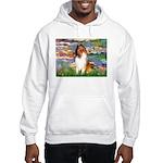 Lilies (2)/Collie (1S) Hooded Sweatshirt