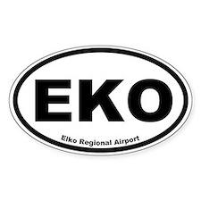 Elko Regional Airport Oval Decal