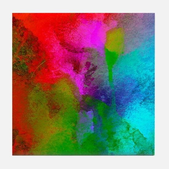 Multi colors Tile Coaster