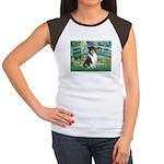 Bridge / Collie (tri) Women's Cap Sleeve T-Shirt