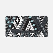 Native Pattern Aluminum License Plate