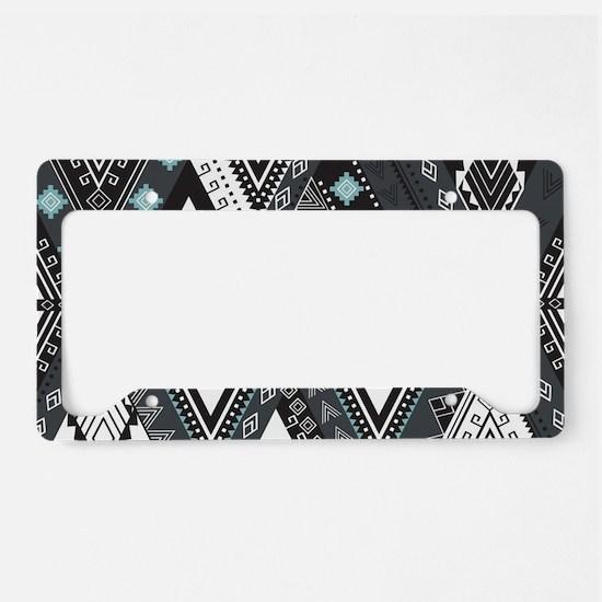 Native Pattern License Plate Holder